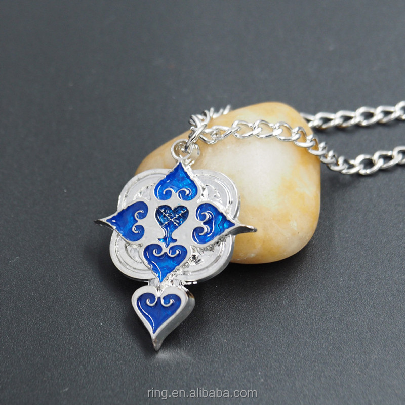 Top Anime Kingdom Hearts six hearts Alloy Pendant Necklace cosplay Gifts Jewelry
