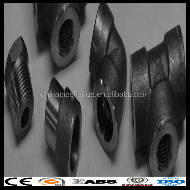 ASME B16.11 forging carbon steel high quality threadeds ends elbows