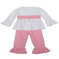 Wholesale halloween thanksgiving cheap decorative outfit pink smocked clothing girls