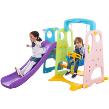 Kids cheap indoor plastic slide swing set
