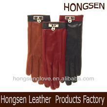 HS2113 Cashmere Lined Leather Gloves
