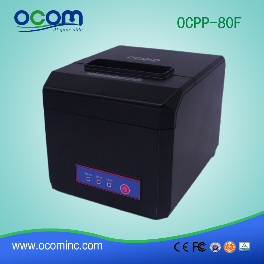 OCPP-80F: 80mm supermarket wireless bluetooth POS ticket bill invoice thermal head printer for restaurant