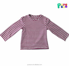 long sleeve stirped cotton girls wearing only shirts