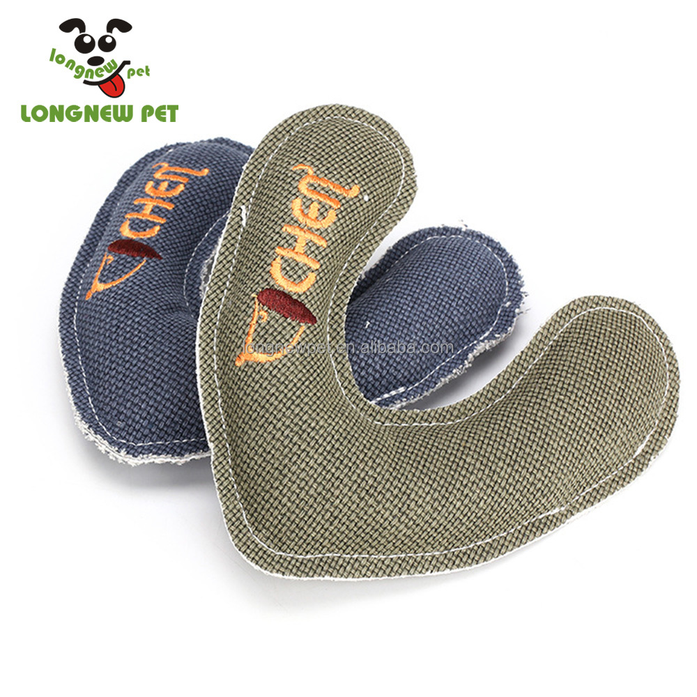 Fashion New Chew Teething In <strong>U</strong> Shaped Linen Dog Toys For Dog Interactive And Squeaky