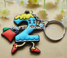 customized soft pvc rubber keychain, 2D/3D rubber keyring, silicone shaped pvc key chain