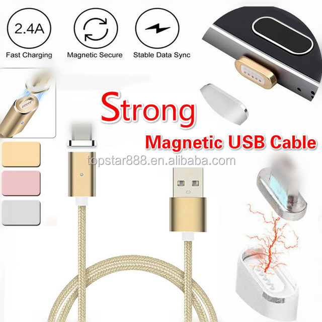 2017 Newest Strong Magnetic Charging Usb Cable Magnetic Charging Cable Two Sided Usb Cable For Iphones