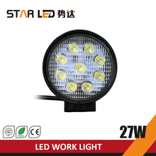 high quality 27W round motorcycle led driving lights led work light for cars
