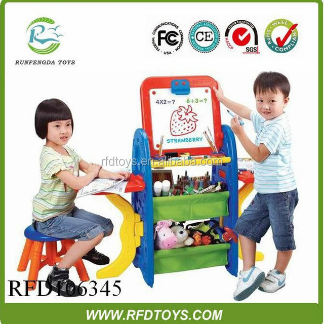 Kids drawing easel board with learning tool and chair easel painting for kids