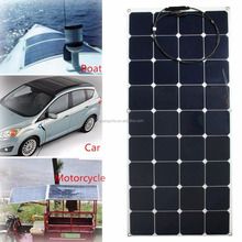 high efficiency sunpower 120w marine semi flexible solar panel prices supplier