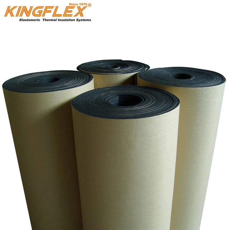 Kingflex brand NBR PVC insulation board faced with aluminum foil and kraft paper