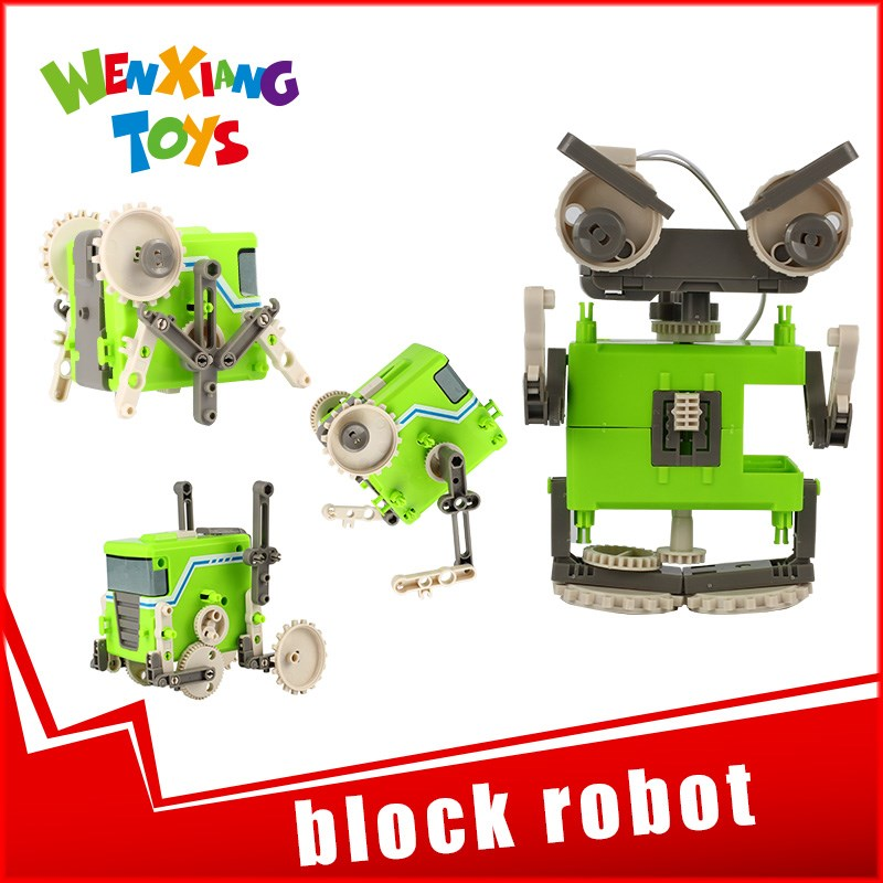 educational toy and games diy science transformer roboactor toy