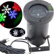 EU US AU UK Outdoor christmas laser light ip65 holiday decoration snow projector waterproof white rgbw chritsmas snowflake light