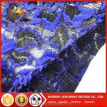 Polyester good quality two colors beaded african lace fabric for garments