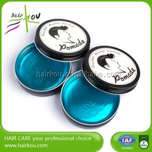 2016 cheap price styling ingredients for hair gel/water based hair pomade with wholesale
