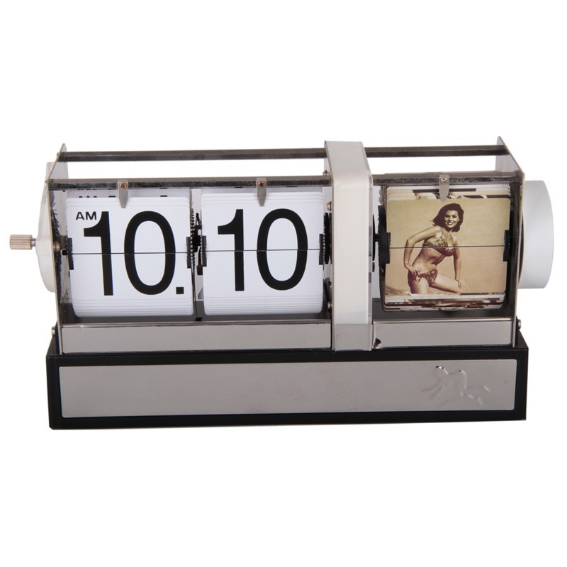 DIY photo retro flip down clock bouncing clock