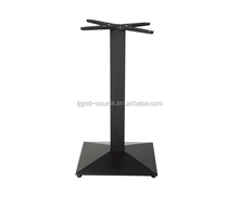 Restaurant furniture 4 legs Cast Iron Table Base For round marble table tops