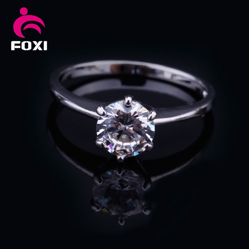 China Factory Direct Cheap Wholesale Jewelry women's white gold Cz Ring Diamond Ring