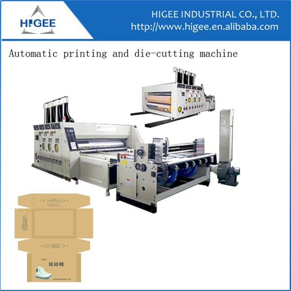 Automatic good price corrugated cardboard shoes box machine
