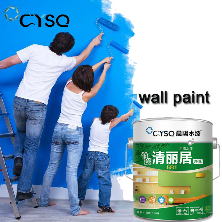 Multi-color waterproof interior emulsion wall paint in building coating