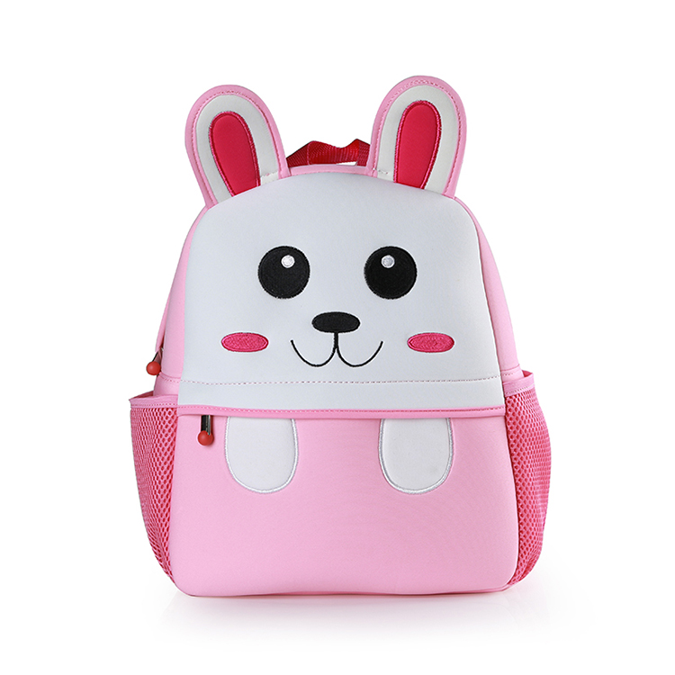 Kawaii Embroidery Rabbit School Bag Cute Neoprene Kids School Bags For Children