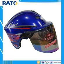 Professional manufacturer blue half face helmet motorcycle