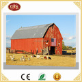 Battery Operate Canvas Oill Painting Canvas with American Red Barn