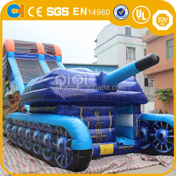 HOT giant inflatable tank slide for adult,inflatable tank ,inflatabe tank slide
