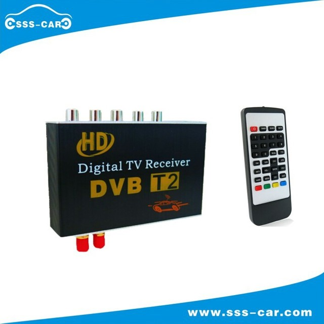 2015 new Dual Tuner 120-130 KM/H high speed car dvb t2 digital tv receiver for Thailand, Colombia, Serbia, Russia