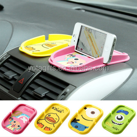 Custom Design Silicone Phone Car Holder Could be done with Anti Pad and Pallet and Phone Holder Together