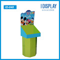 Pop recycled material cardboard display stand for retailing