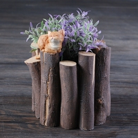 Top Quality Resin Wooden Fence With Cat Cute Plant Pot for Garden or Home Decor