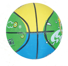 best sale custom design 3# mini kids toy rubber basketball