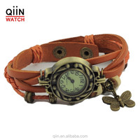 QU0226 Fashion leather watch strap, women leather watch, vintage leather lady watch