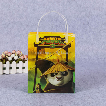 fancy cartoon design gift plastic bag pp packing bag with handle plastic christmas gift bags