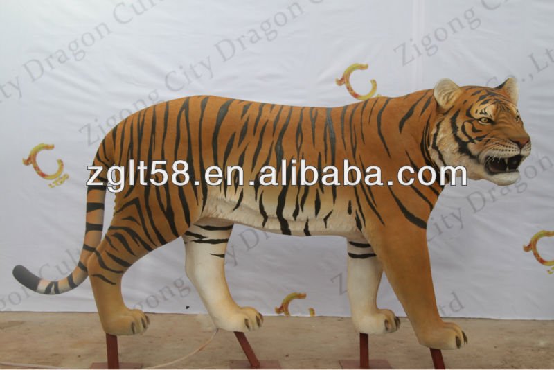 Realistic animatronic animal saber-toothed tiger