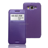 Roar Noble View Leather Flip Case, Stand Function & Card slot for Samsung Galaxy Grand Prime (10 Plain Colors)