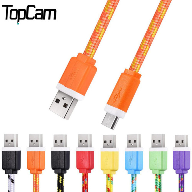 3M Fabric Nylon Braided Micro USB Cable Charger Data Sync USB Cord Wire For Samsung Galaxy Xiaomi HTC 8 Colors Available
