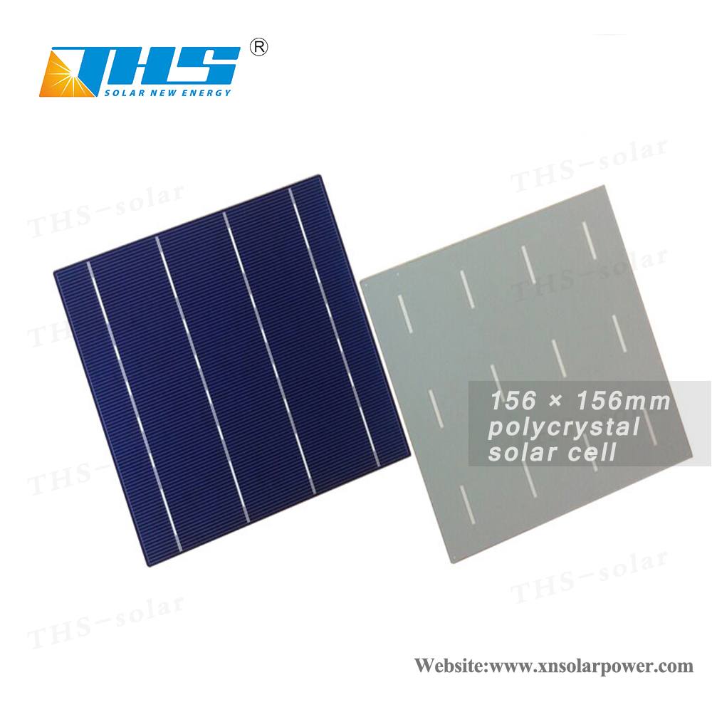 6x6inch poly 156x156 3bb/4bb solar cell manufacturer low price for sale