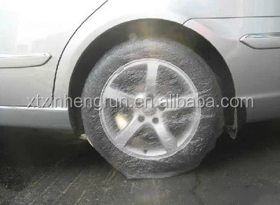 High Quality Plastic disposable PE Car tyre Cover