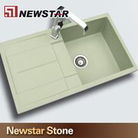 Newstar Anti Scrath Stains Free Double Bowl Quartz Stone Kitchen Sinks