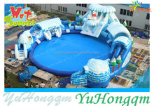 Super Hot!!!2016 Factory price New Design Giant frozen cheap inflatable water games