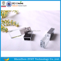 1gb factory price engraved logo crystal usb flash drive