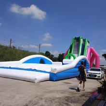 Top quality large water slide giant inflatable jumping slide