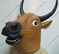 Hot Selling Items Online 2014 Adult Size Deluxe Quality Carnival Party Halloween Costume Rubber KING Realistic Bull Mask