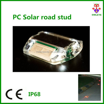 Hot sale Solar road studs,solar cat eyes road reflector,solar road marker,plastic solar road stud for road edge