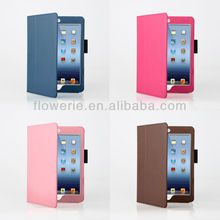 FL649 2013 Guangzhou best selling products stand case for ipad mini, leather case for ipad mini stock market NO MOQ