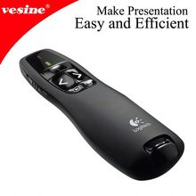 In Stock ! Factory Direct Selling !! RF wireless presenter in nice leather bag and Free logo Printting