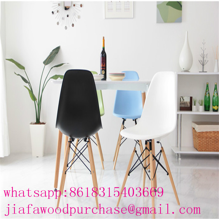 modern beech legs chair with pp plastic
