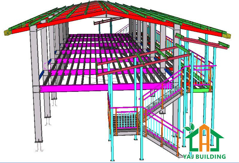 Popular steel structure dormitory layout