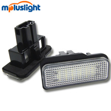 Wireless 12V LED car license plate frame light for W203 5D W212 W219